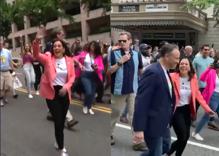 Kamala Harris snuck into DC's impromptu Pride parade before anyone noticed