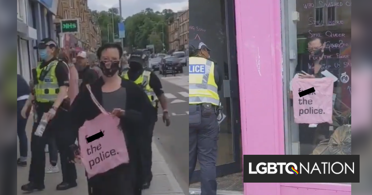 """Officers attempt to storm a gay café to seize """"f*ck the police"""" merch. It backfires."""