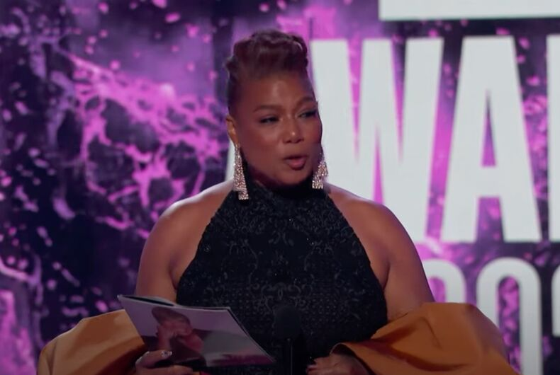 Queen Latifah accepts the Lifetime Achievement Award at the 2021 BET Awards.