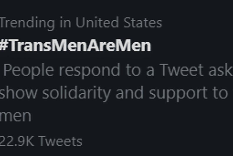 The positive hashtag swept Twitter