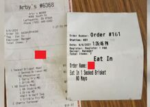 Arby's employee fired after writing homophobic slur on customer's receipt