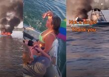 New video shows ungrateful bullies in tears after LGBTQ people save them from burning boat