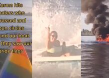 Instant karma: Boat explodes as bullies harass family flying Pride flag