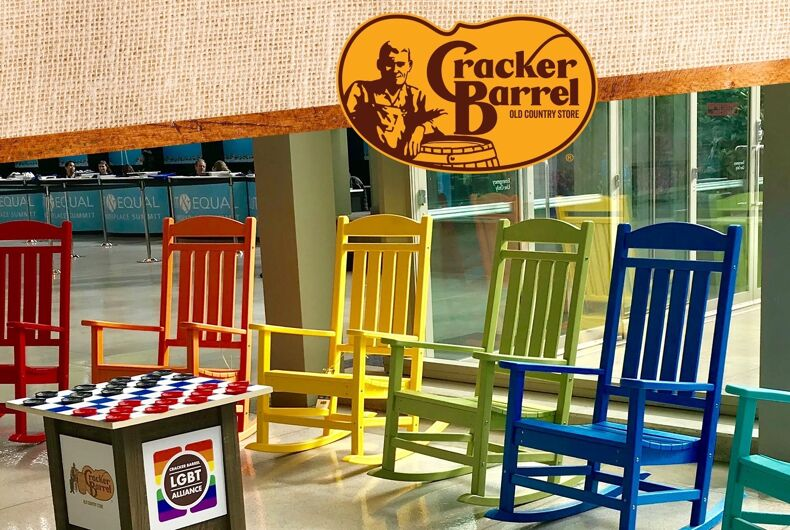 Even Cracker Barrel is getting on board with Pride Month.