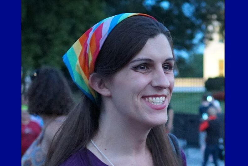Del. Danica Roem at a 2017 White House protest