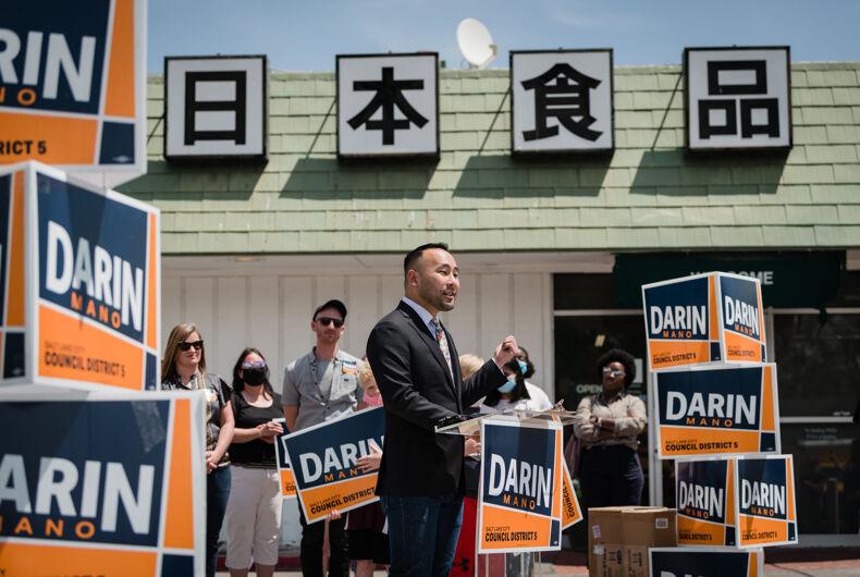 Salt Lake City city councilor Darin Mano