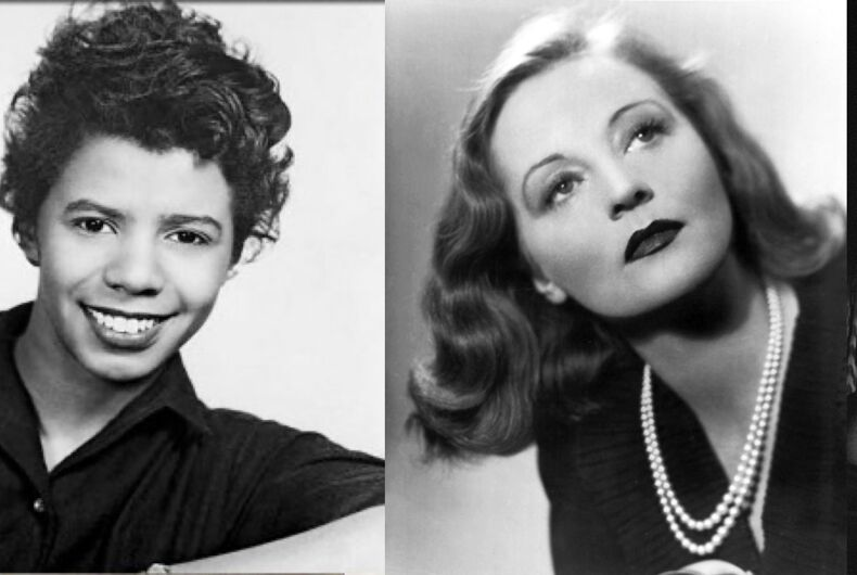 Lorraine Hansberry, Tallulah Bankhead, and Billie Holiday