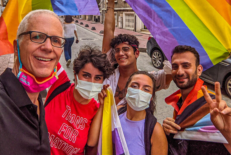 A group of proud Pride marchers in Istanbul, Turkey on June 26, 2021.