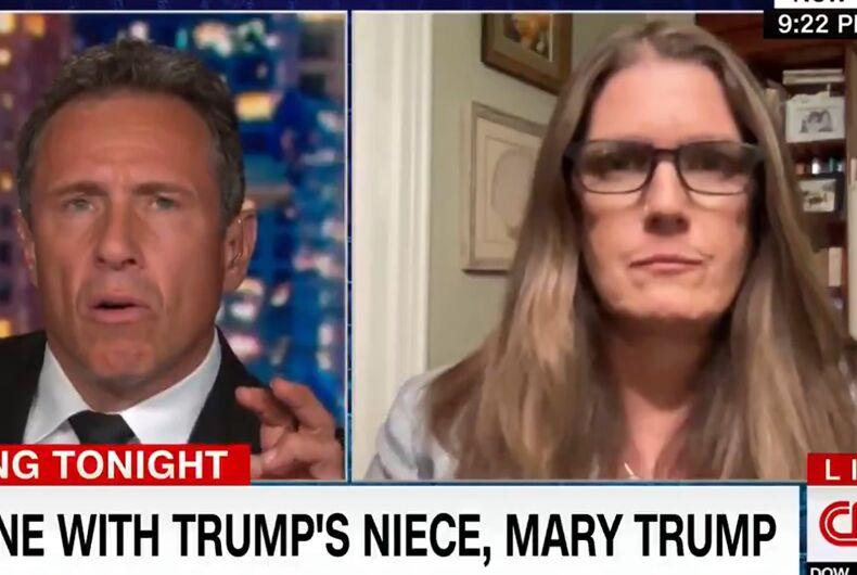 Mary Trump talking to Chris Cuomo on CNN