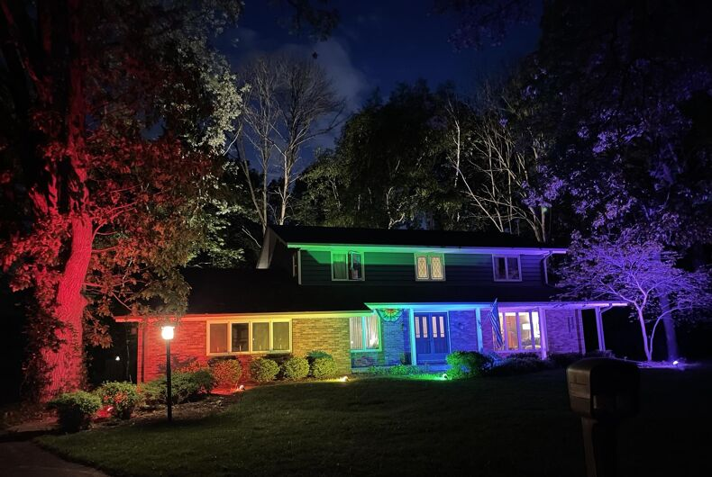 Reddit user memon17 posted this photo of their Wisconsin home after the HOA told them to take down a Pride flag.
