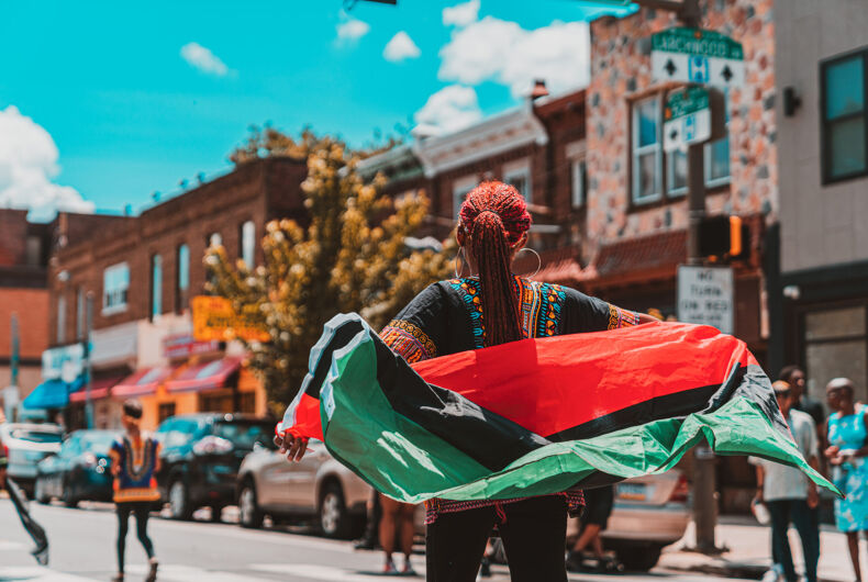 Philadelphia, PA / USA - June 22 2019: Juneteenth Parade Philadelphia at Malcolm X Park African American Independence Day