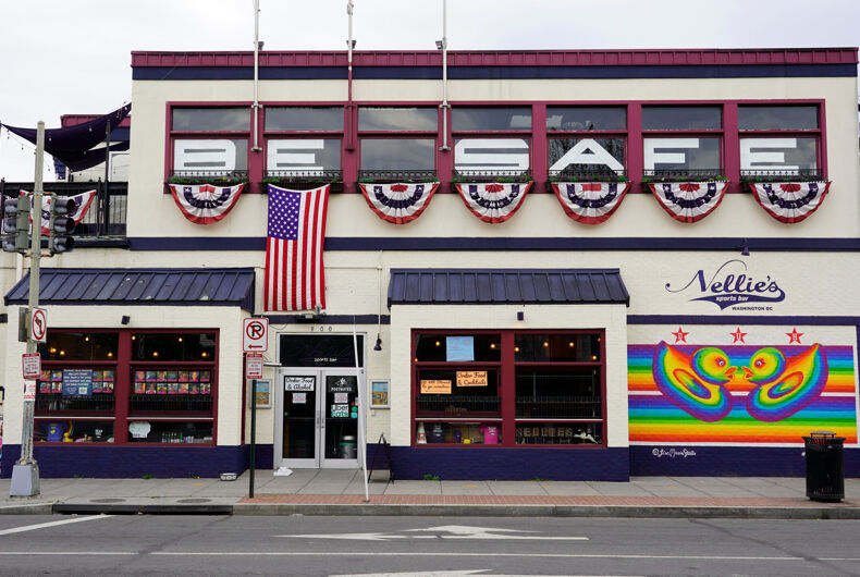 Washington, DC - USA - January 8, 2016 : Nellie's Sports Bar (900 U St NW, Washington, DC 20001). Gay friendly, LGBT bar and restaurant downtown Washington.