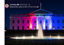 Twitter jokes that the White House came out as bisexual last night