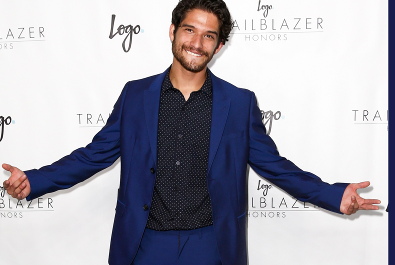 Actor Tyler Posey attends Logo TV's