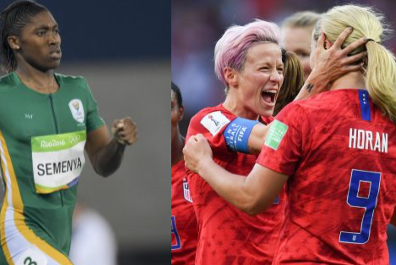 While Megan Rapinoe (right) and hundreds of other LGBTQ athletes are competing at what's being dubbed the
