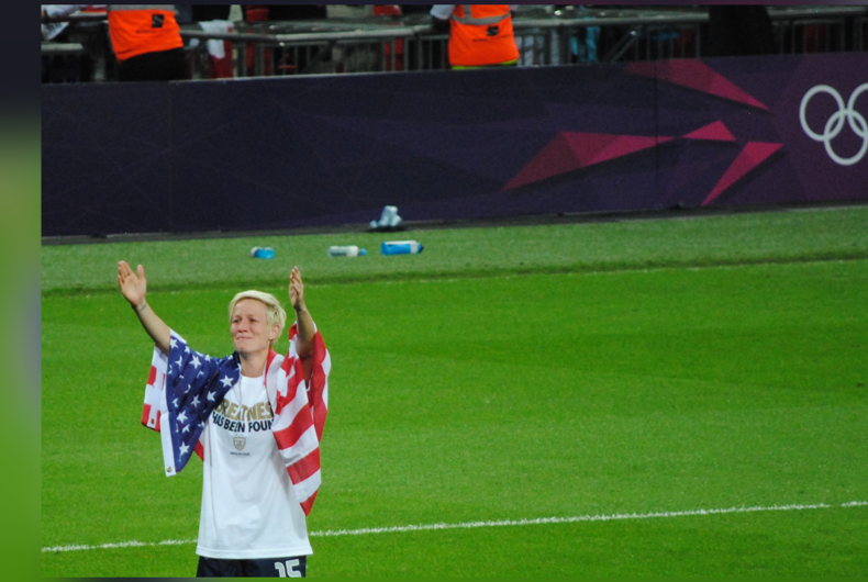 Megan Rapinoe at the 2012 Summer Olympics final on August 9, 2012
