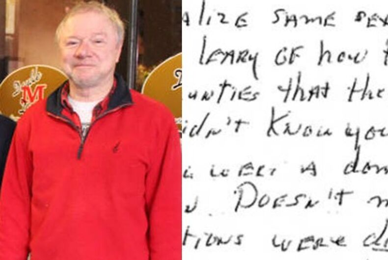 Jerry Detrick and his apology letter