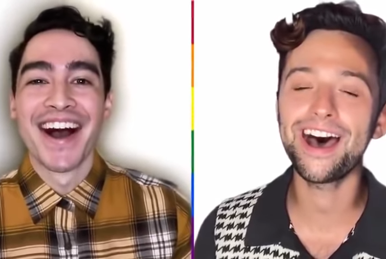 Members of the San Francisco Gay Men's Chorus sing in the fun video.