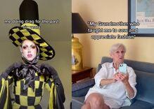 Grandma's reaction to seeing drag queen grandson in elaborate handmade costume is priceless