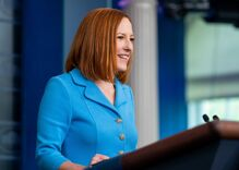 """Jen Psaki nails journalists who want Biden to send Trump an """"embroidered invitation"""" to fight COVID"""