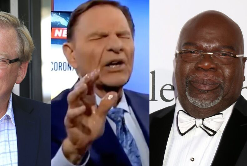 Evangelical leaders Rick Warren, Kenneth Copeland, and T.D. Jakes
