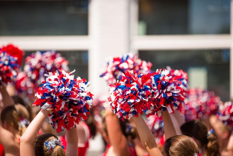 cheerleaders' pom poms