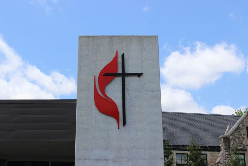 Kansas City, Missouri / USA - May 13 2019: Logo of the United Methodist Church