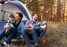Tents up! Camping is skyrocketing in popularity with LGBTQ families