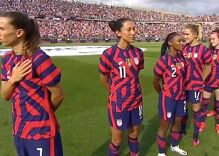 """Conservatives accuse US women's soccer team of """"disrespecting"""" the flag. They didn't."""