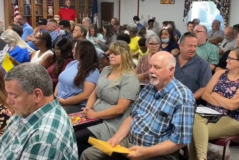 Parents packed in at the Franklin County district meeting last night to speak out against a trans policy the board wasn't considering.