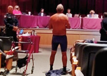 Texas man strips in front of school board to make a point about mask mandates