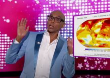 "RuPaul slays as guest host on Jimmy Kimmel Live with gay news & ""cockpit"" jokes"