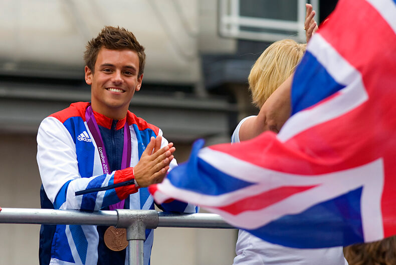 Tom Daley at the London 2012 Olympic & Paralympic Games Victory Parade, 10th September