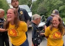 """School board member caught on video calling cops """"f****ts"""" while getting arrested"""