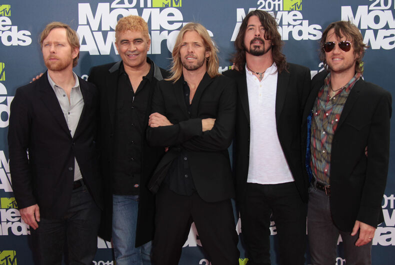 FOO FIGHTERS arriving to MTV Movie Awards 2011 on June 05, 2011 in Hollywood, CA