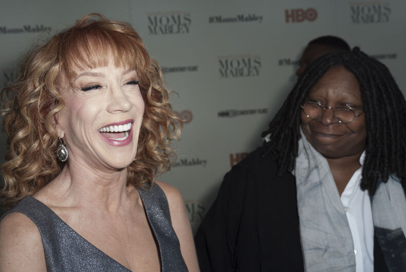 Kathy Griffin and Whoopi Goldberg