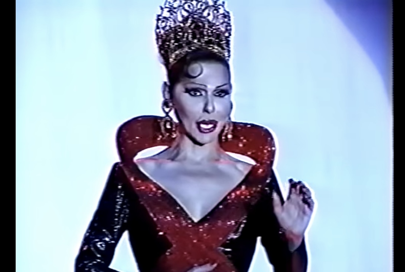 Miss Continental Lady Catiria performing in 1996