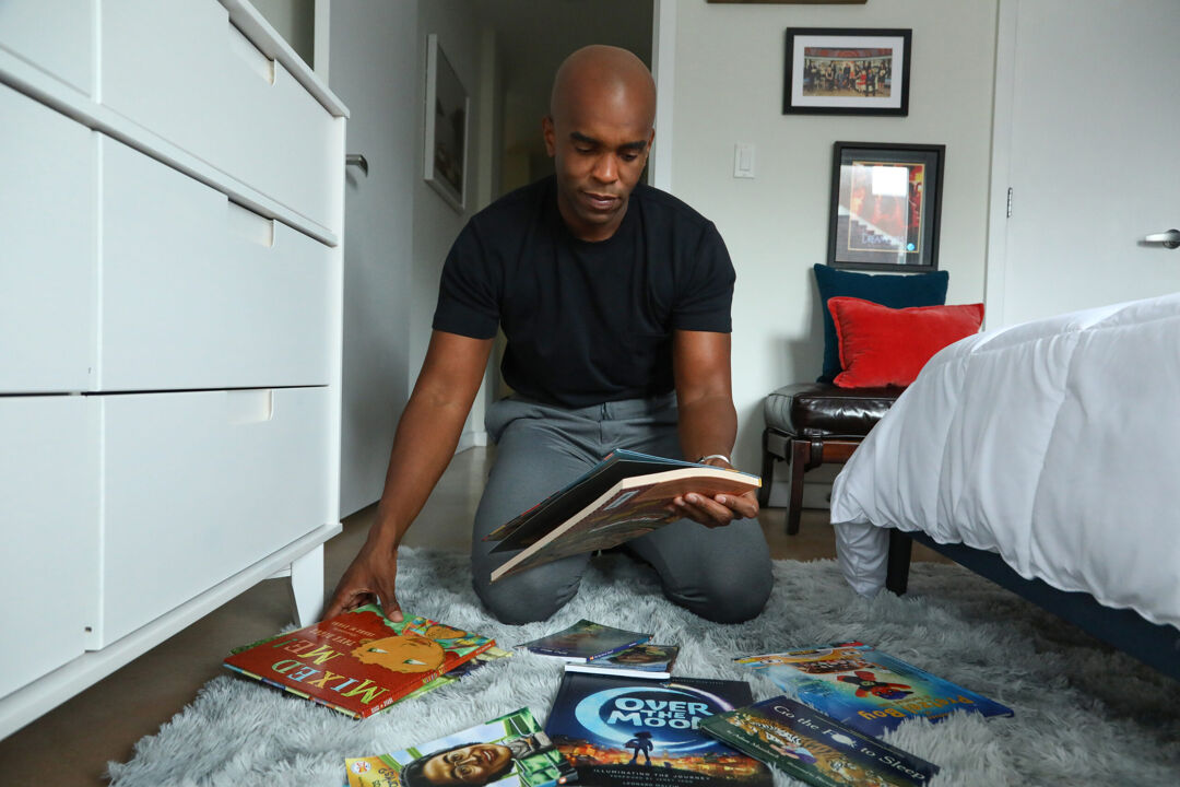 Chris Witherspoon cleans up books