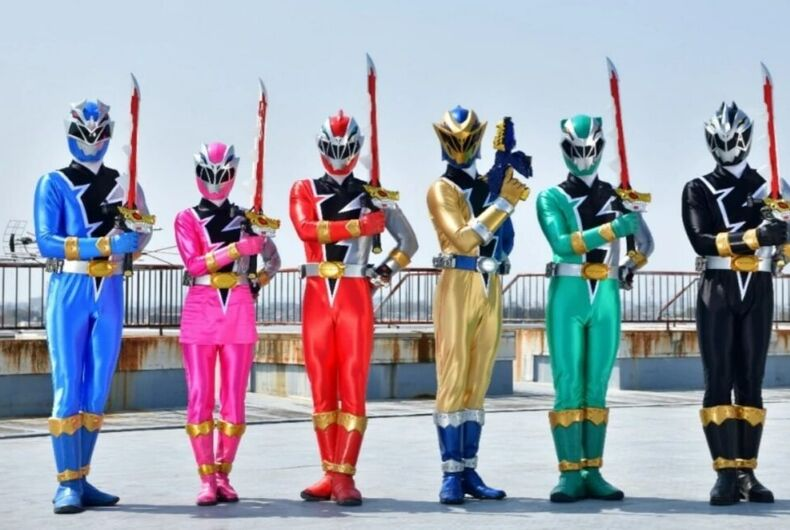 The new lineup of Power Rangers