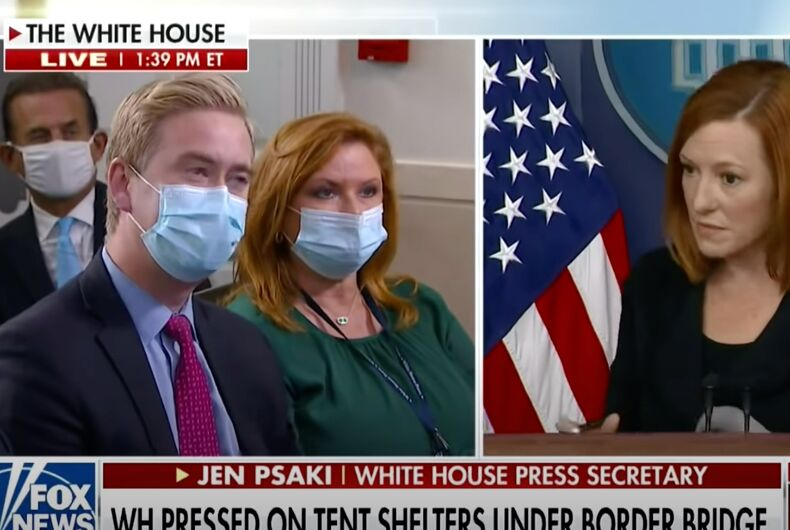 It didn't take long for Jen Psaki to spell it out for Peter Doocy.