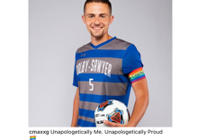 An out soccer player's team destroys opponents after one of them uses anti-gay slur