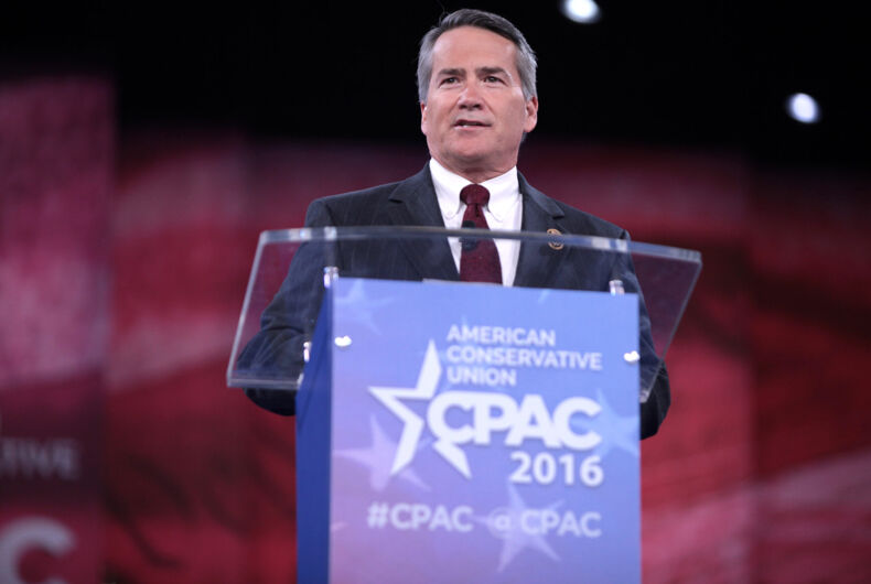 U.S. Congressman Jody Hice of Georgia speaking at the 2016 Conservative Political Action Conference (CPAC) in National Harbor, Maryland.