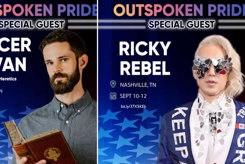 Spencer Klavan and Ricky Rebel will appear at an event for gay Trump supporters.
