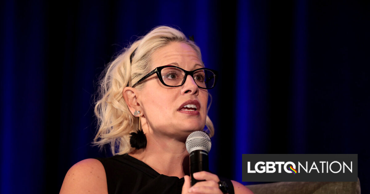 Hate group praises out Sen. Kyrsten Sinema for helping to doom LGBTQ rights bill