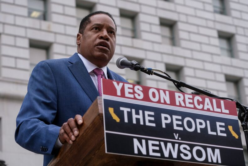 Larry Elder, California recall election, right-wing media, recall elections, Fox News, voter fraud, conspiracy theories