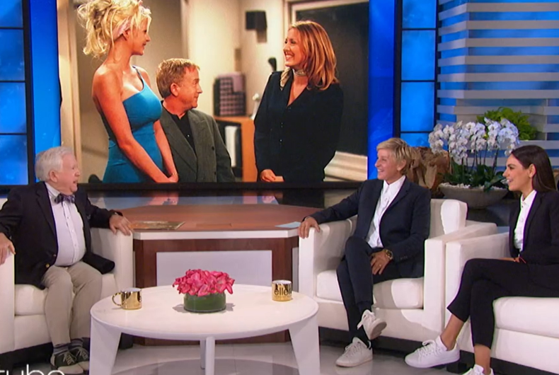 Leslie Jordan on Ellen's talk show talking about Leslie Jordan on Ellen's sitcom