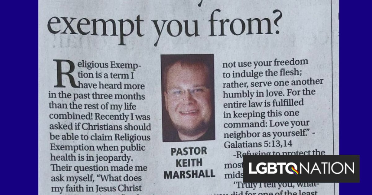 """Pastor effortlessly takes down Christians' demands for """"religious exemptions"""" in viral column"""