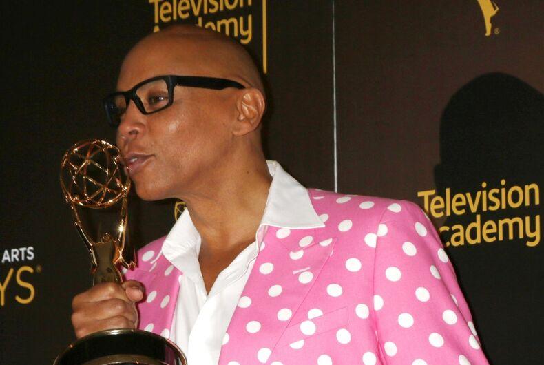 RuPaul taking home a Creative Arts Emmy in 2016.