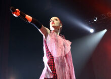 """Garbage lead singer Shirley Manson identifies """"with this idea of non-binary"""""""
