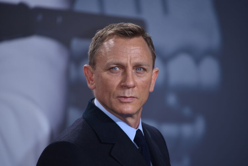 Actor Daniel Craig on the red carpet in Berlin in 2015.